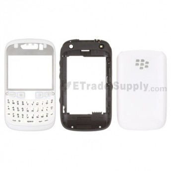 For BlackBerry Curve 9320 Complete Housing Replacement - White - Grade S+
