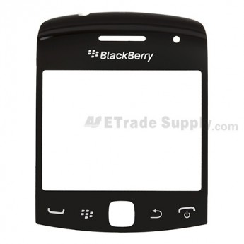 For BlackBerry Curve 9360, 9350, 9370 Glass Lens Replacement ,Black - Grade S+