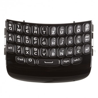 For BlackBerry Curve 9360, 9350, 9370 QWERTZ Keypad with Bezel  Replacement - Black - Grade S+