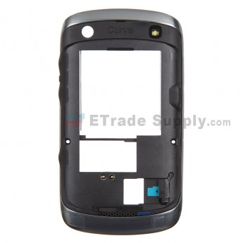 For BlackBerry Curve 9360 Rear Housing with Bezel Replacement - Black - Grade S+