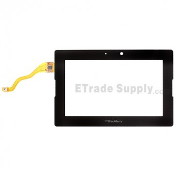 For BlackBerry PlayBook Digitizer Touch Screen without Adhesive Replacement ,Black - Grade S+