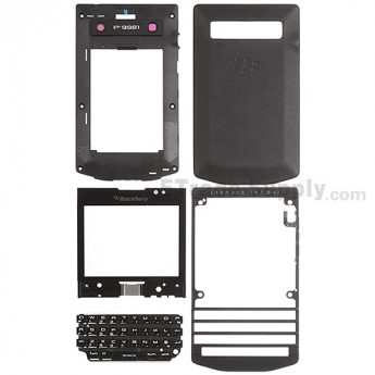 For BlackBerry Porsche Design P'9981 Complete Housing Replacement - Black - Grade S+