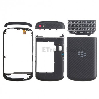 For BlackBerry Q10 Complete Housing Replacement - Black - Grade S+