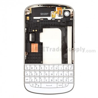 For BlackBerry Q10 Complete Housing Replacement - White - Grade S+