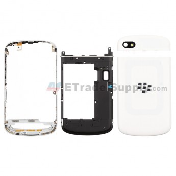 For BlackBerry Q10 Housing Replacement - White - Grade S+