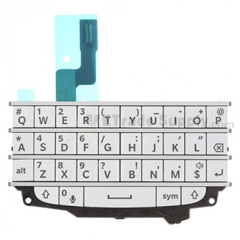 For BlackBerry Q10 Keypad and Keyboard Assembly Replacement - White - Grade S+