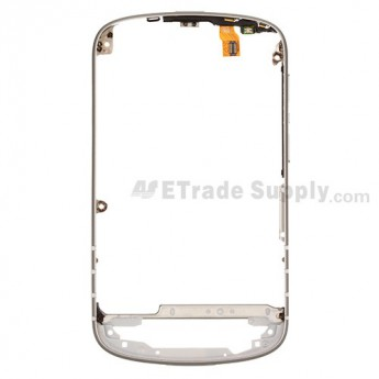 For BlackBerry Q10 Middle Frame Replacement ,White - Grade S+