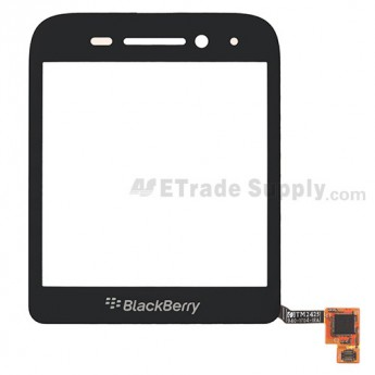 For BlackBerry Q5 Digitizer Touch Screen Replacement - Black - Grade S+
