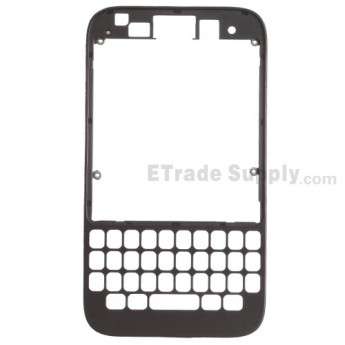 For BlackBerry Q5 Front Housing Replacement - Black - Grade S+