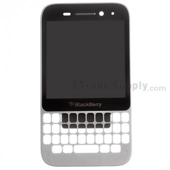 For BlackBerry Q5 LCD Screen and Digitizer Assembly with Frame Replacement (LCD-49754-001/111) - Silver - Grade S+