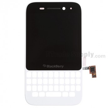 For BlackBerry Q5 LCD Screen and Digitizer Assembly with Frame Replacement (LCD-49754-001/111) - White - Grade S+