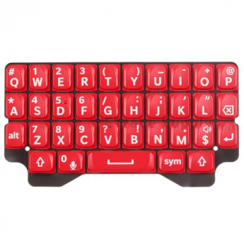 For Blackberry Q5 QWERTY Keypad  Replacement - Red - Grade S+