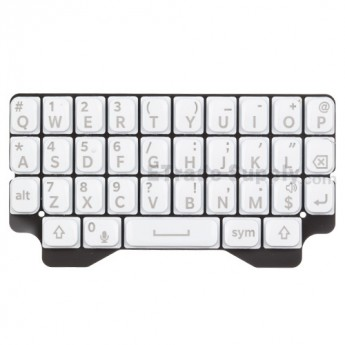 For Blackberry Q5 QWERTY Keypad  Replacement - White - Grade S+