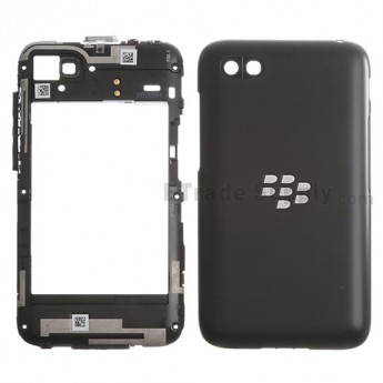 For Blackberry Q5 Rear Housing Assembly Replacement - Black - Grade S+