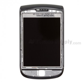 For BlackBerry Torch 9800 LCD Screen with Front Housing Replacement (LCD-26252-001/111) - Grade S+