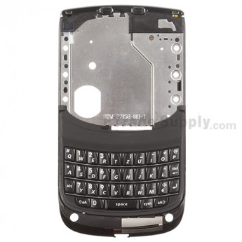 For BlackBerry Torch 9800 Middle Metal Plate with QWERTZ Keyboard- Black - Grade S+
