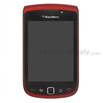 For BlackBerry Torch 9800 Upper Slide Assembly with LCD and Digitizer(LCD-26252-001/111) Replacement ,Red - Grade S+