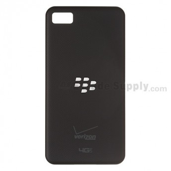For BlackBerry Z10 Battery Door  Replacement ,Black, With Logo - Grade S+