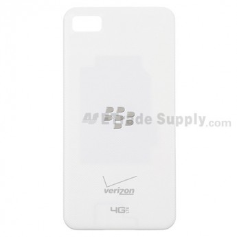 For BlackBerry Z10 Battery Door  Replacement - White, With Logo - Grade S+
