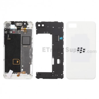 For BlackBerry Z10 Complete Housing Replacement (4G Version) - White - Grade S+