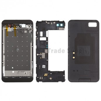 For BlackBerry Z10 Complete Housing  Replacement (3G Version) - Black - Grade S+