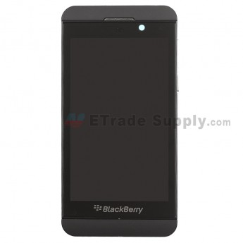 For BlackBerry Z10 LCD Screen and Digitizer Assembly with Middle Plate Replacement (3G Version) - Black - Grade S+