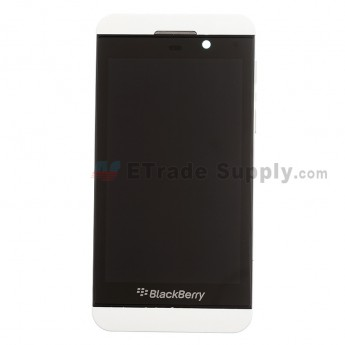 For BlackBerry Z10 LCD Screen and Digitizer Assembly with Middle Plate Replacement (3G Version) - White - Grade S+