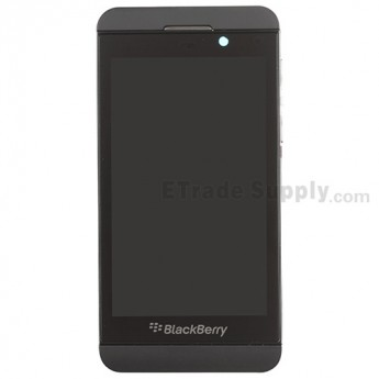 For BlackBerry Z10 LCD Screen and Digitizer Assembly with Middle Plate Replacement (4G Version) - Black - Grade S+
