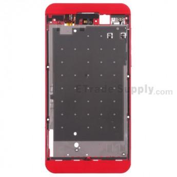 For BlackBerry Z10 Middle Plate Replacement (4G Version) - Red - Grade S+