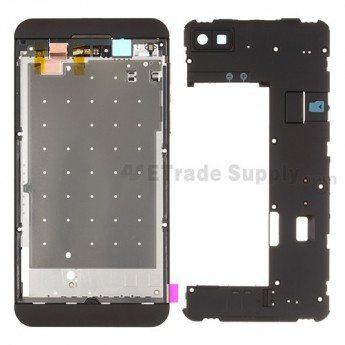 For BlackBerry Z10 Rear Housing Assembly Replacement (4G Version) - Black - Grade S+