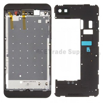 For BlackBerry Z10 Rear Housing Assembly Replacement (3G Version) - Black - Grade S+