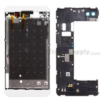 For BlackBerry Z10 Rear Housing Assembly  Replacement (3G Version) - White - Grade S+