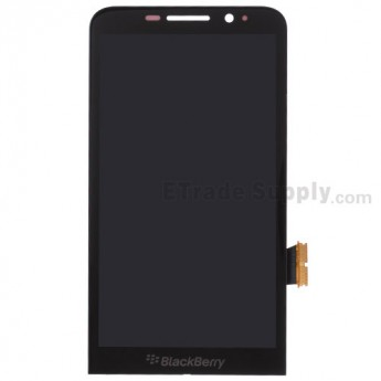 For BlackBerry Z30 LCD Screen and Digitizer Assembly Replacement - Black - With Logo - Grade S+