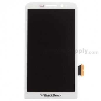 For BlackBerry Z30 LCD Screen and Digitizer Assembly Replacement - White - With Logo - Grade S+
