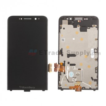 For BlackBerry Z30 LCD Screen and Digitizer Assembly with Frame Replacement - Black - With Logo - Grade S+