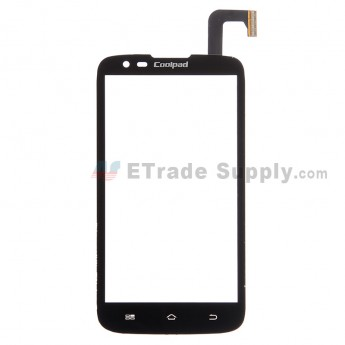 For Coolpad MAX 7295 Digitizer Touch Screen Replacement - Black - With Logo - Grade S+