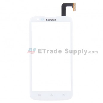 For Coolpad MAX 7295 Digitizer Touch Screen Replacement - White - With Logo - Grade S+