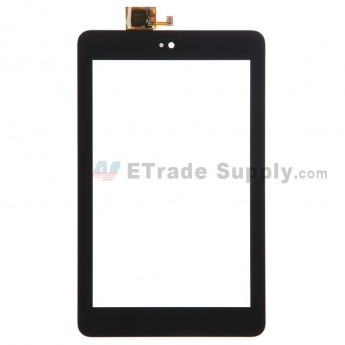 For Dell Venue 7 Digitizer Touch Screen Replacement - Black - Without Any Logo - Grade S+