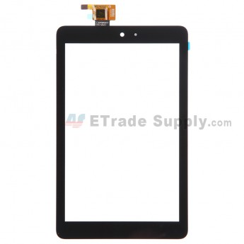 For Dell Venue 8 Digitizer Touch Screen Replacement - Black - Without Any Logo - Grade S+