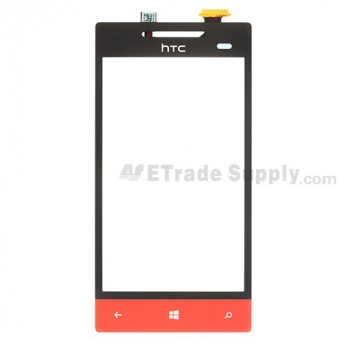 For HTC 8S Digitizer Touch Screen Replacement - Red - Grade S+