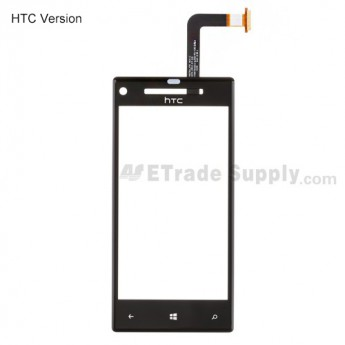 For HTC 8X Digitizer Touch Screen Replacement - With Logo - Grade S+