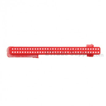 For HTC 8X Ear Speaker Mesh Cover  Replacement - Red - Grade S+