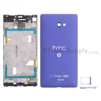 For HTC 8X Housing Replacement - Blue - With Logo - Grade S+