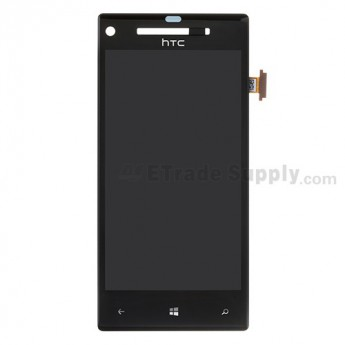 For HTC 8X LCD Screen and Digitizer Assembly without Light Guide Replacement - With Logo - Grade S+