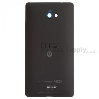 For HTC 8X Rear Housing Replacement - Black - With Logo - Grade S+