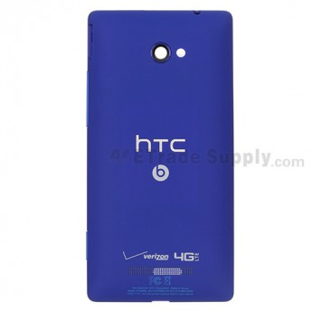 For HTC 8X Rear Housing  Replacement - Blue - With Logo - Grade S+