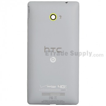 For HTC 8X Rear Housing Replacement - Gray - With Logo - Grade S+