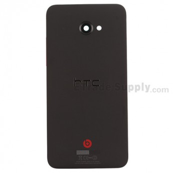 For HTC Butterfly X920d Rear Housing Replacement (International Version) - Black - With Logo - Grade S+