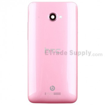 For HTC Butterfly X920d Rear Housing Replacement (International Version) - Pink - With Logo - Grade S+