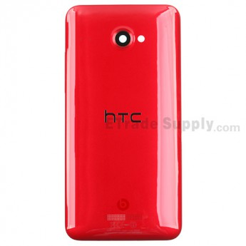 For HTC Butterfly X920d Rear Housing Replacement (International Version) - Red - With Logo - Grade S+
